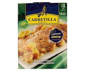 Carretilla Lomo al ajillo con patatas asadas 250 gramos