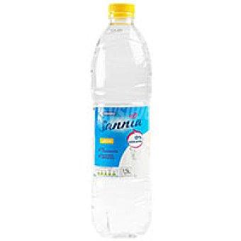 Eroski Sannia Agua aromatizada sabor limón Botella 1,5 litros