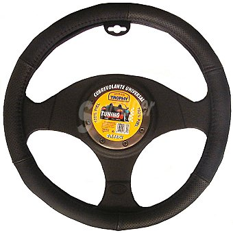 TROPHY 18PN Cubre volante de piel para automóvil en color negro