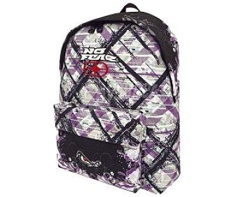 NO FEAR Mochila con Asas Reforzadas y Amplio Bolsillo Frontal con Cierre de Cremallera Wild Garden Purple 1 Unidad