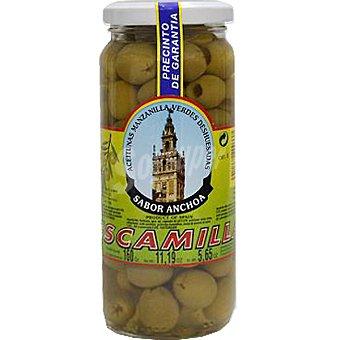 Escamilla Aceitunas manzanilla sin hueso con sabor a anchoa Frasco 160 g