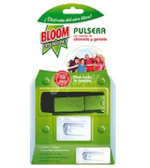 Bloom Pulsera repelente de insectos + 2 pastillas ambientador 1 ud