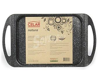 CELAR Plancha gril rectangular de 24x13 centímetros con cuerpo de aluminio extra-fuerte, asas antitérmicas y recubrimiento antiadherente de Greblon 1 Unidad