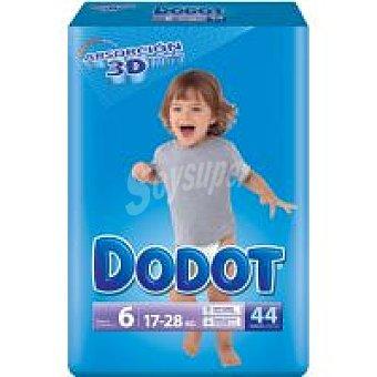 Dodot Pañales Absorción 3D 16-22kg Talla 6 Junior Paquete 44 unid