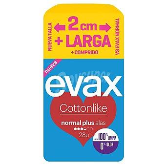 Evax Compresa con alas normal plus Envase 28 uds