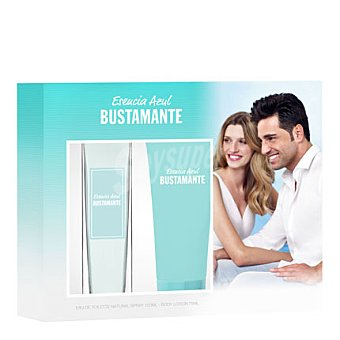 Bustamante Estuche colonia Esencia Azul spray 100 ml. + body lotion 75 ml. 1 ud