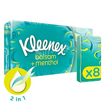 Kleenex Panuelo balsam + menthol 8 ud
