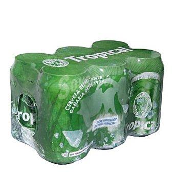 Cerveza tropical Pack de 6 latas de 33 cl