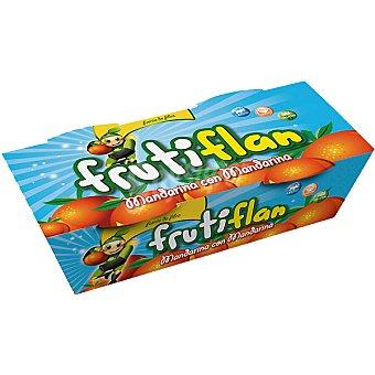 Frutiflan Flan de mandarina sin grasa 88% de flan de frutas y 12% de sirope de frutas Pack 2 envase 100 g