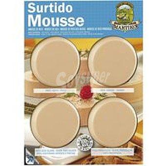 Martiko Surtido de mousse Pack 4x75 g