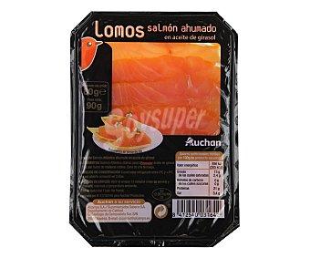 Auchan Lomos de salmón ahumado en aceite de girasol 80 gramos