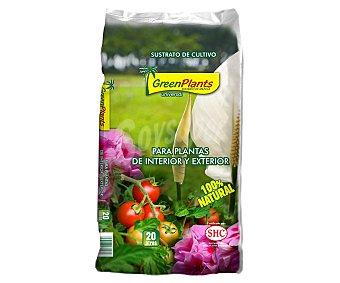 GREEN PLANTS Sustrato universal de cultivo, de origen 100% natural 20 litros