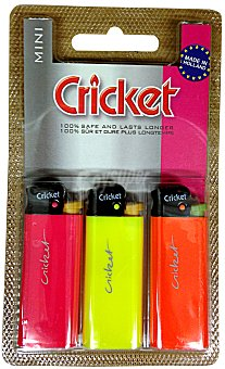Cricket Encendedor mini Paquete 3 u