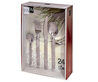JAY Catering Cubertería completa de 24 piezas fabricadas en acero inoxidable modelo Catering JAY