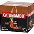 Café Expresso intensidad ápsulas compatibles con máquinas Nespresso 10 estuche 10 c Catunambu