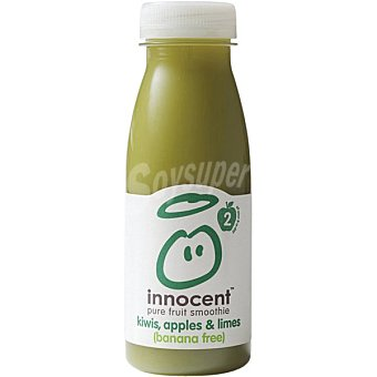 INNOCENT Pure fruit smoothie zumo suave con kiwi, manzana y lima botella 250 ml Botella 250 ml