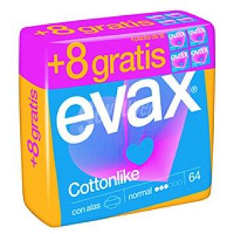 Evax Compresa normal con alas Paquete 56+8 unid