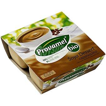 SANTIVERI PROVAMEL Bio Soya Dessert Postre de soja sabor cappuccino Pack 4 envase 125 g