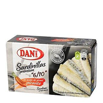 Dani Sardinillas Premium en aceite de girasol picante 65 g