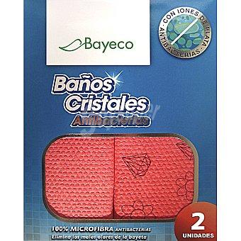 Bayeco Bayeta ecológica baños y cristales antibacterias de microfibra Paquete 2 unidades