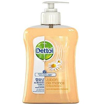 Dettol Jabón de manos antibacteriano nutritivo con leche de algodón y camomila Dosificador 250 ml