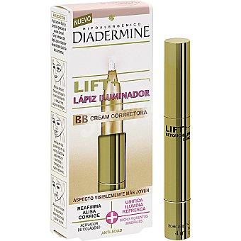 Diadermine Contorno de ojos Lift+ Lápiz Iluminador BB Cream Correctora anti-edad Envase 7 ml