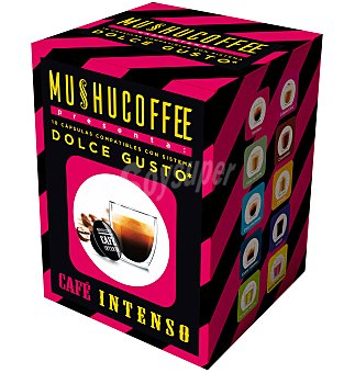 Mushu Cápsulas café café intenso 10 unidades