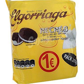 El Gorriaga Galletas de cacao rellenas con crema sabor nata 2 x 150 g