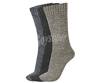 TREKKING Pack de 3 pares de calcetines de montaña con interior cálido y puño antipresión, color surtido, talla única Pack de 3