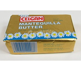 Celgán Paquete mantequilla con sal Envase 250 g
