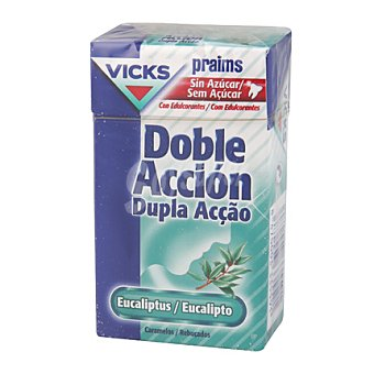 Vicks Caramelos para la garganta praims doble accion plus c 40 g