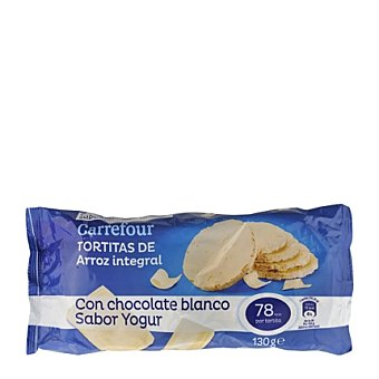 Carrefour Tortita de arroz integral bañada con yogur 130 g