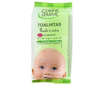 Corine de Farme Toallitas rostro y manos para bebés 25 unidades