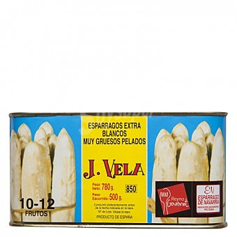 J. vela Espárrago blanco extra de Navarra 6-12 frutos 500 G 500 g