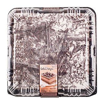 Hacendado Tarta selva negra 30 raciones (cuadrada) pasteleria congelada 1 u - 2 kg