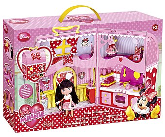 Disney Casa Maletín con Accesorios, I Love Minnie 1u