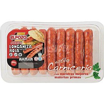 ElPozo Longaniza fresca roja bandeja 325 g Bandeja 325 g