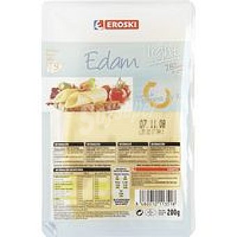 Eroski Queso edam light lonchas 200g