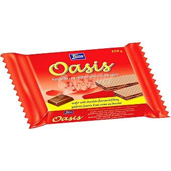 Tirma Oasis barquillo con relleno sabor a chocolate Paquete 100 g