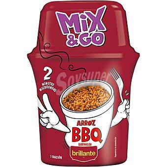 BRILLANTE MIX & GO Arroz cocido con salsa barbacoa envase 360 g Envase 360 g