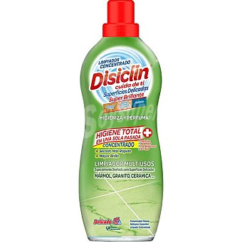 Disiclin limpiador concentrado mágico con bioalcohol para mármol granito y cerámica  botella 1 l