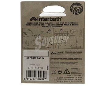 INTERBATH Juego de 2 soportes para barra de cortina curva, color blanco 1 unidad