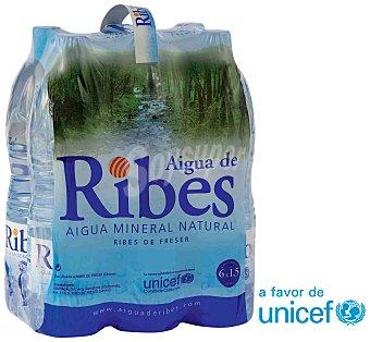Aigua de Ribes Ribes Agua Mineral Natural 6 botellas de 1,5 l