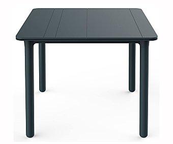 Olot Mesa de exterior de resina en color gris 90 x 90cm, OLOT.