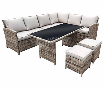 KACTUS REPUBLIC Bahamas Conjunto de jardín de 5 piezas, mesa, sofás y taburetes, Republic.