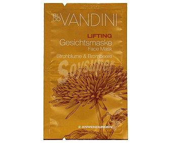 Aldo Vandini Mascarilla lifting facial con siempreviva & mora 2 x 7,5 ml 2 aplicaciones bolsa 15 ml bolsa 15 ml