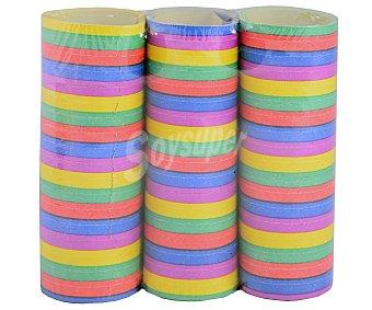 Party success Lote de de serpentina de papel, de diferentes y divertidos colores 3 rollos