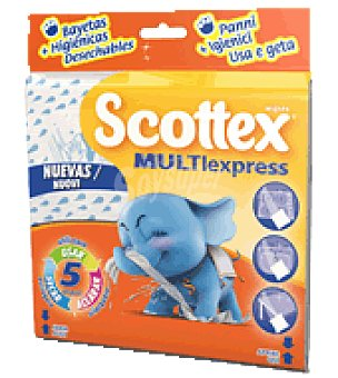 Scottex Bayetas desechables Multiusos Multi-Express 5 ud