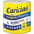 King papel multiusos 2 capas Envase 1 rollo Caricias