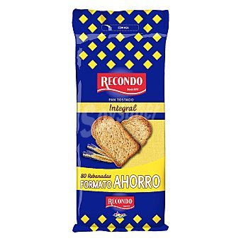 Recondo Pan tostado integral bolsa 720 g